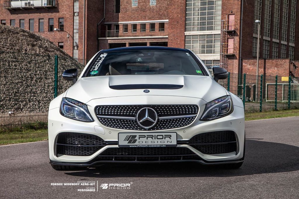 prior design make the mean mercedes amg c63 coupe look furious. Black Bedroom Furniture Sets. Home Design Ideas