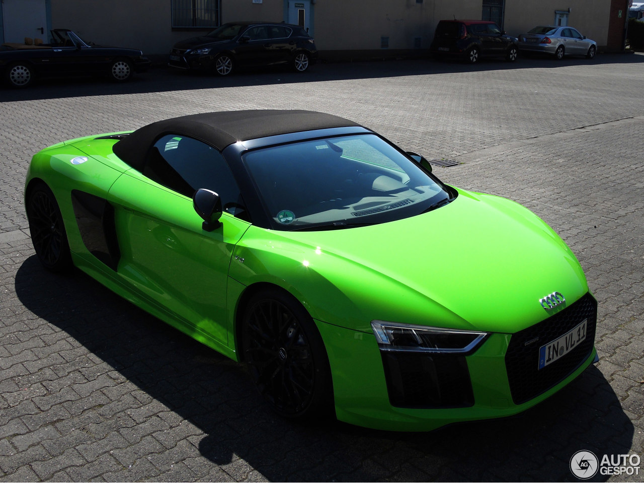 Audi R8 Spyder Looks Great In Lambo Green