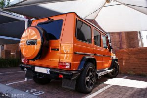 orange mercedes benz g63 amg south africa