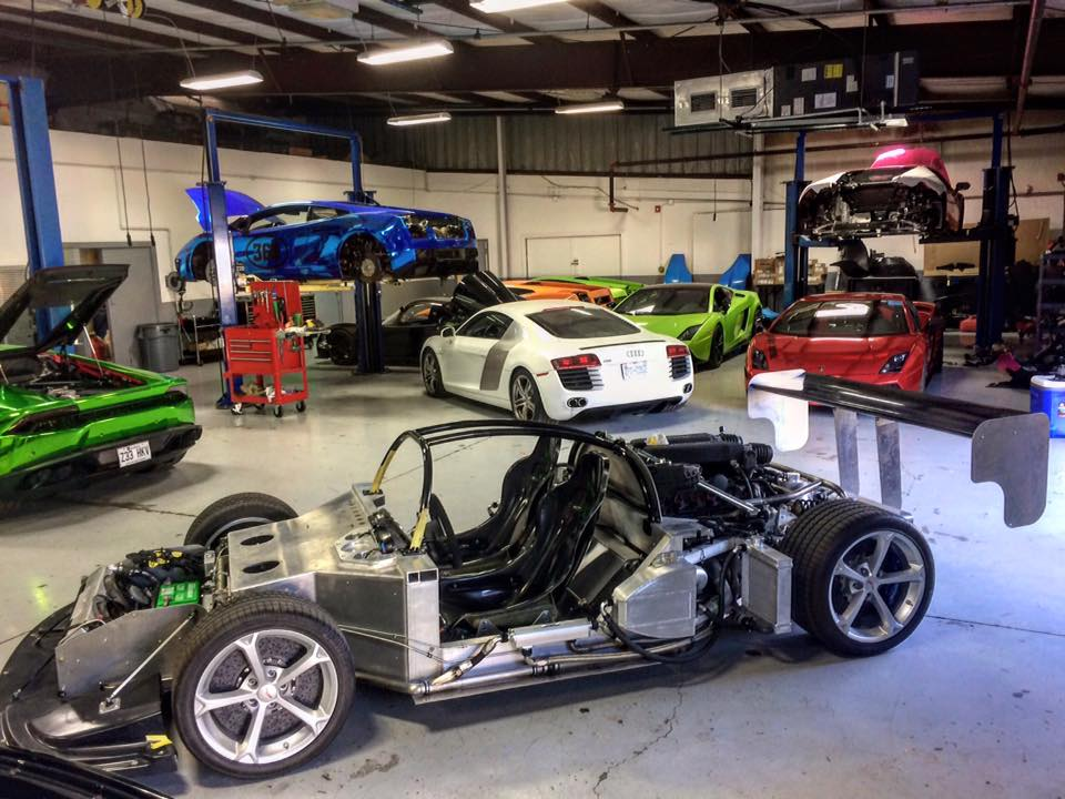 Heffner Performance Working On Twin Turbo Lambo Gallardo