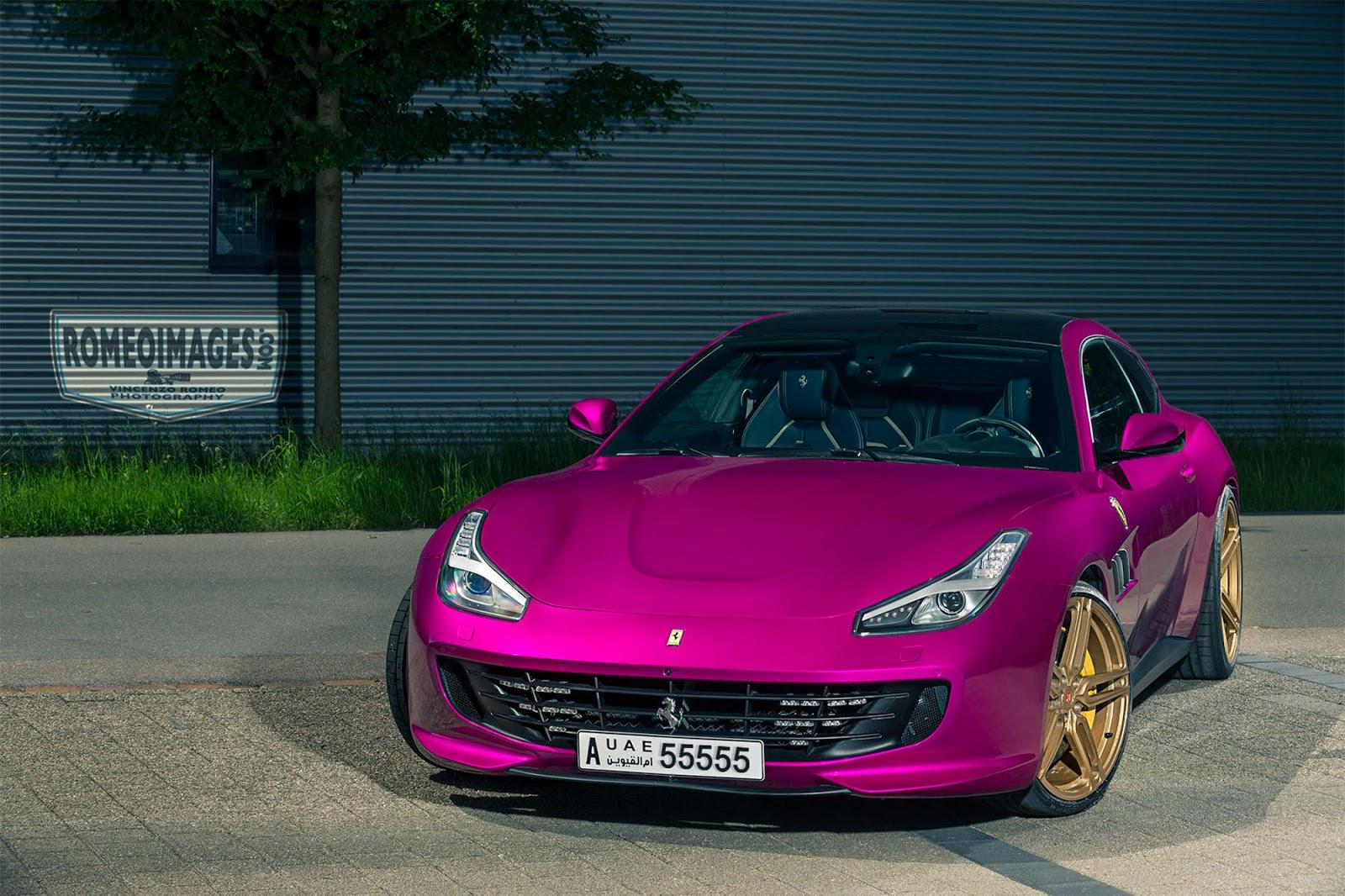 Pink Ferrari GTC4Lusso Goes Against Ferrari Brand Rule