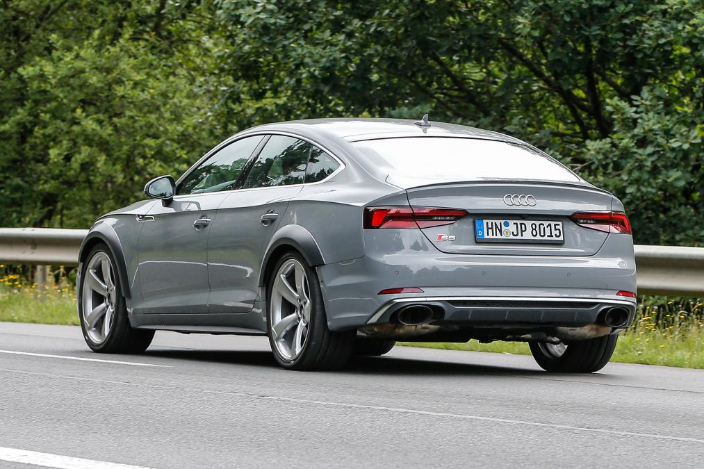 audi rs5 sportback spotted testing ahead of frankfurt reveal. Black Bedroom Furniture Sets. Home Design Ideas