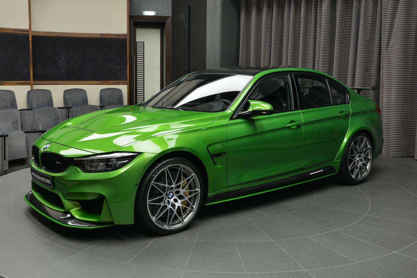 bmwm3_Java Green BMW M3 Dripping In M Performance Parts Looks Glorious
