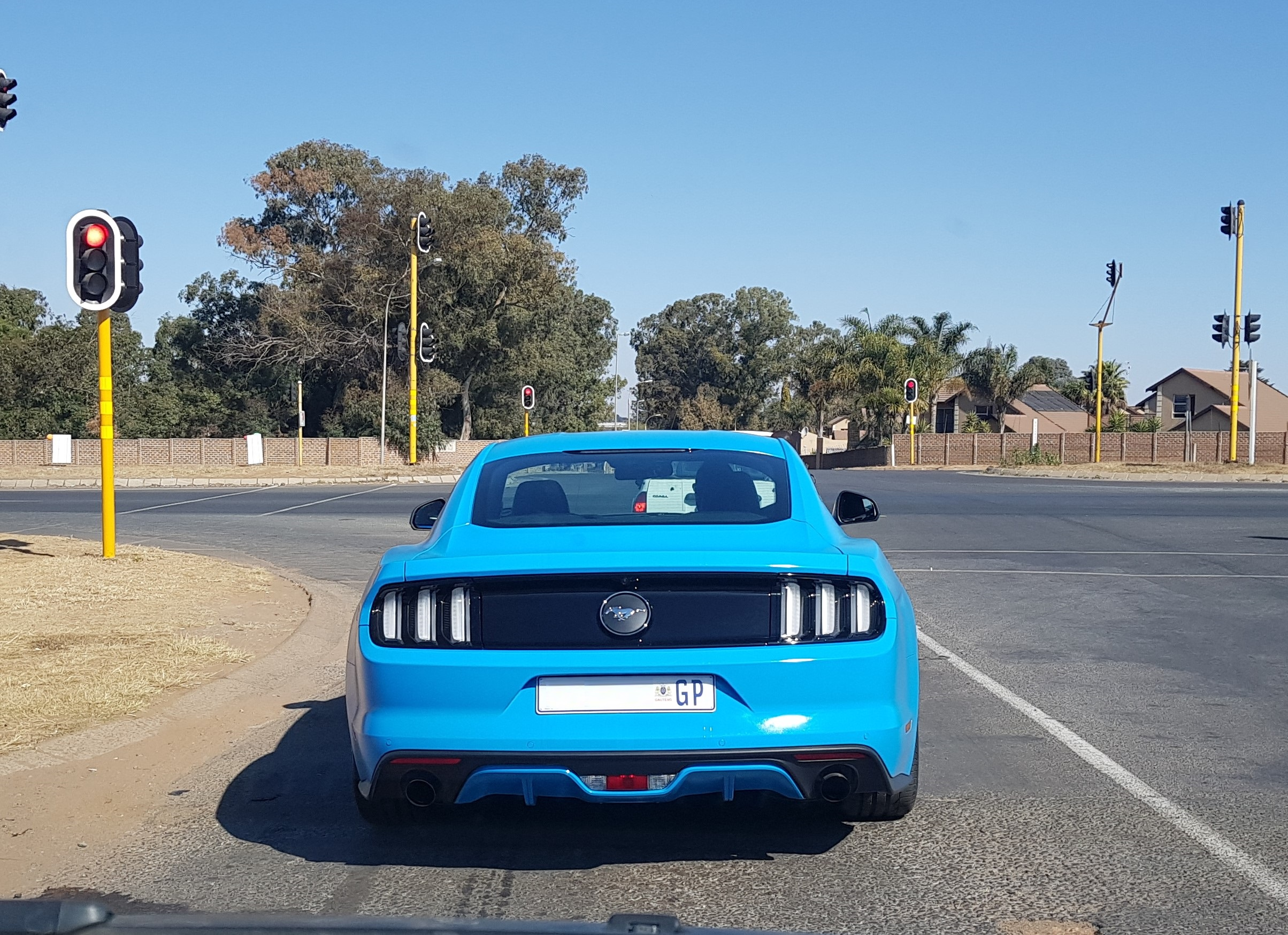 Bright Blue Ford Mustang South Africa