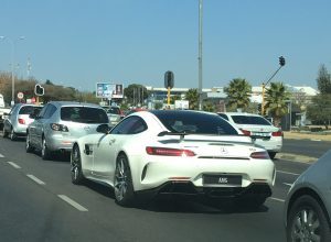 white mercedes-amg gt r south africa