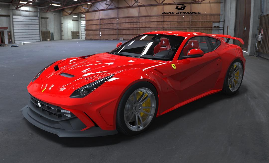 Duke Dynamics Tease Limited Ferrari F12 Wide Body Kit