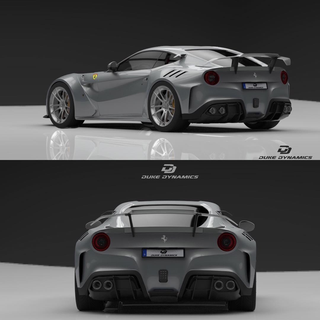 duke dynamics tease limited ferrari f12 wide body kit