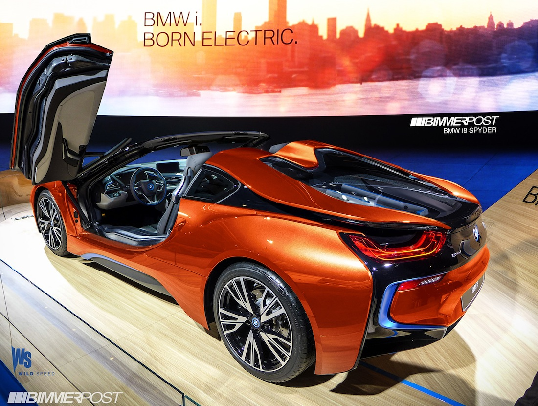 Bmw I8 Roadster To Double Electric Range Of Current I8