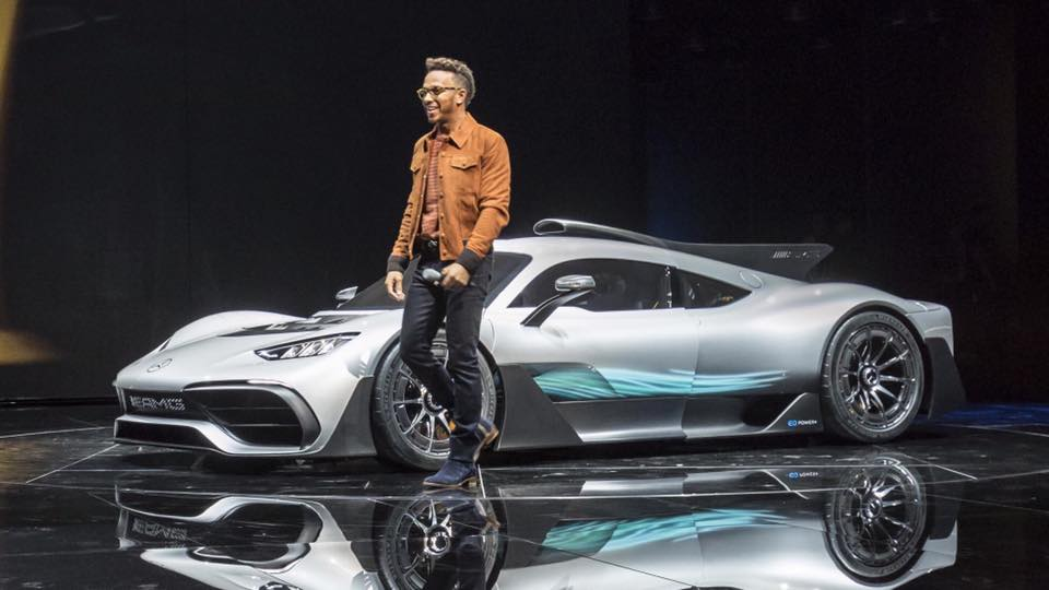 Lewis hamilton getting the first mercedes amg project one for Mercedes benz hat lewis hamilton