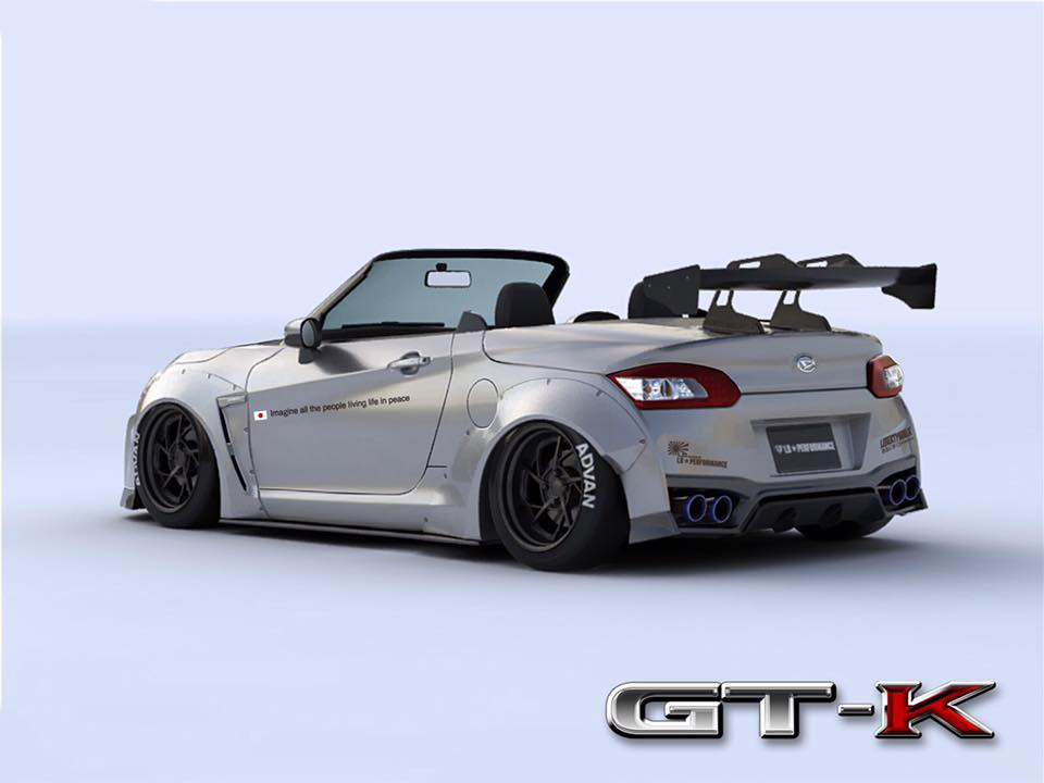Liberty Walk Create Custom Mini Nissan GT-K Convertible