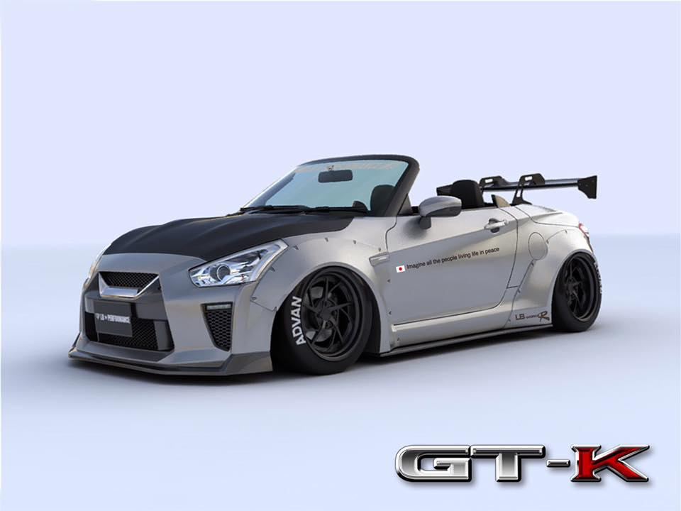 liberty walk create custom mini nissan gt k convertible. Black Bedroom Furniture Sets. Home Design Ideas