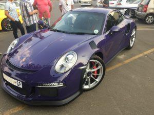 purple porsche 992 gt3 rs south africa