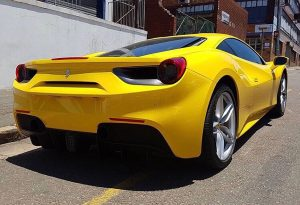 yellow ferrari 488 gtb south africa