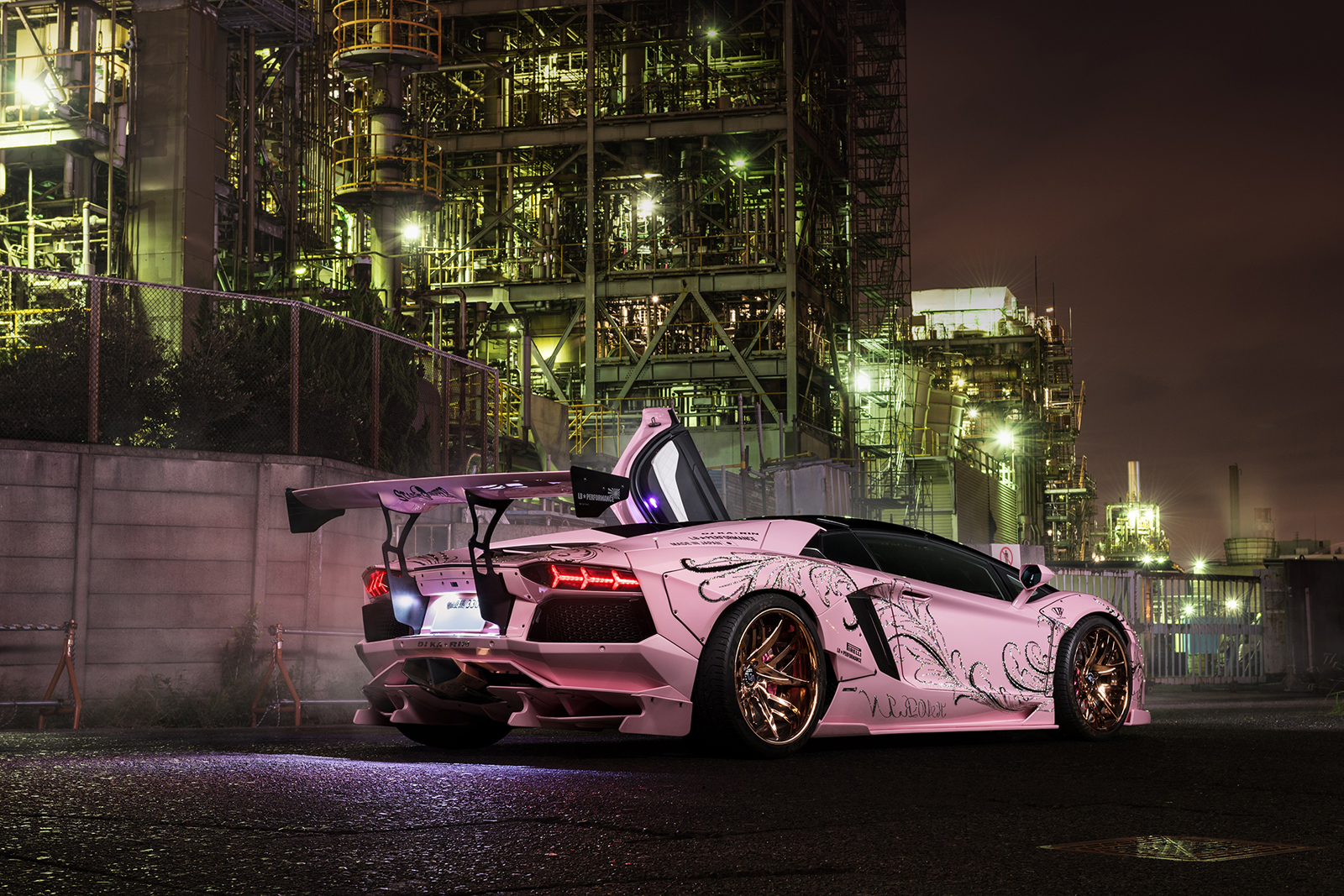 Pale Pink Liberty Walk Lamborghini Aventador Is Hard To