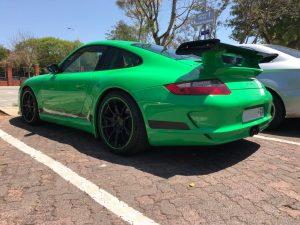 green porsche 997 gt3 rs south africa