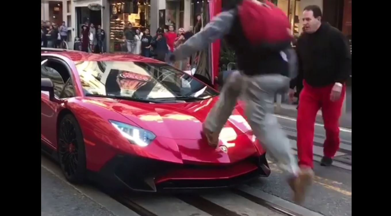 This Guy Ran Over A Lamborghini Aventador Sv But Then Got
