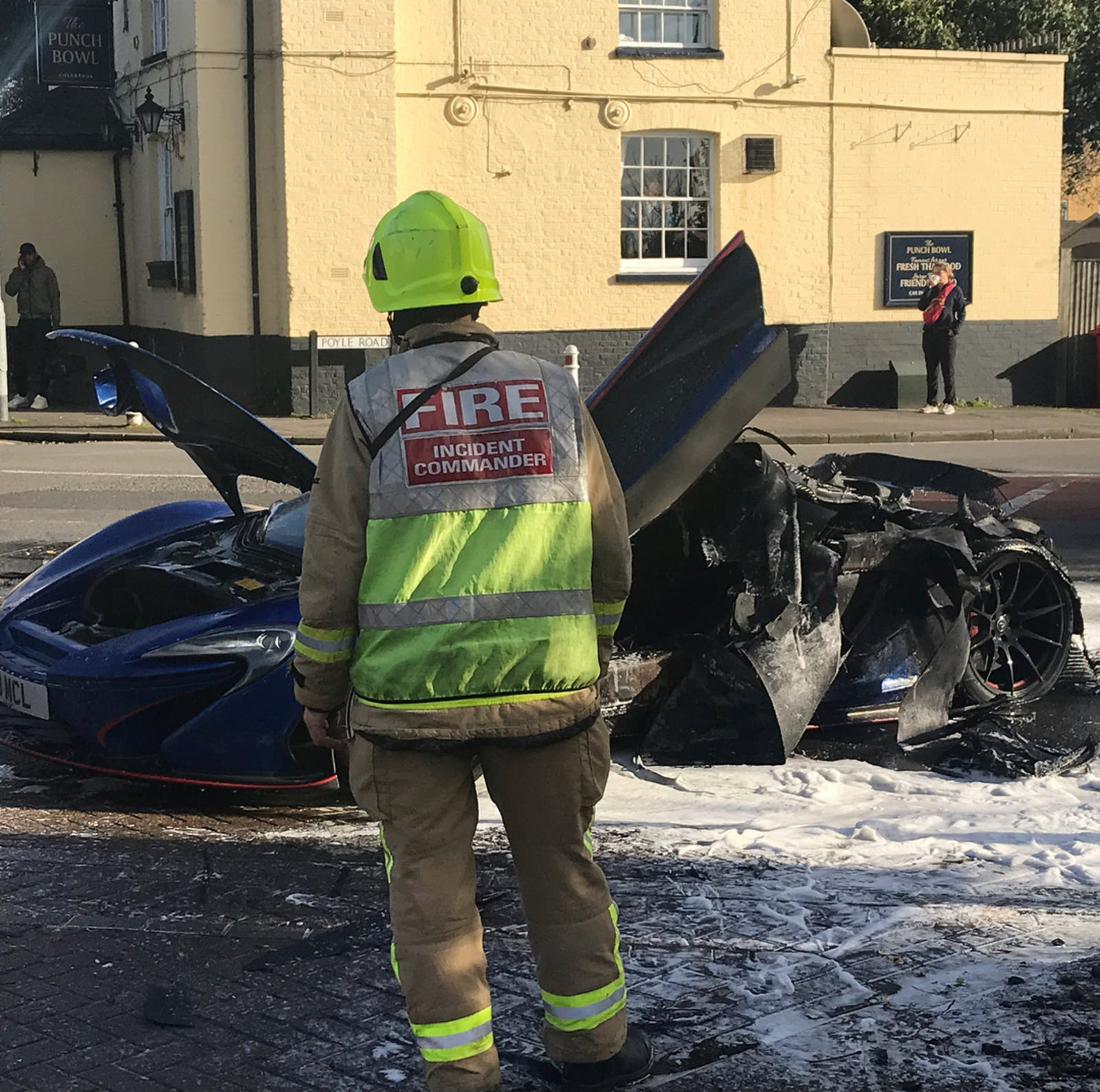 Mclaren P Fire Aftermath