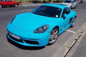 blue porsche cayman s 718 south africa