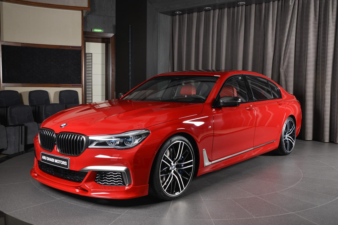 Imola Red Bmw M760li Xdrive With 3d Design Kit Looks The