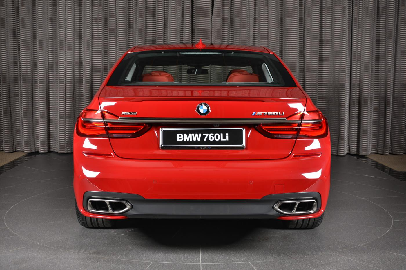 Imola Red Bmw M760li Xdrive With 3d Design Kit Looks The