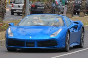 blu ferrari 488 spider south africa