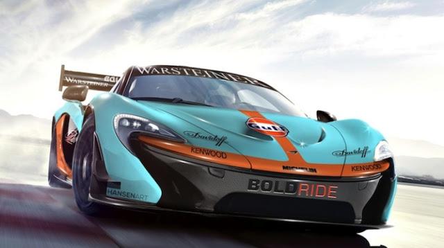 Racing McLaren P1 GTR Gulf Rendered