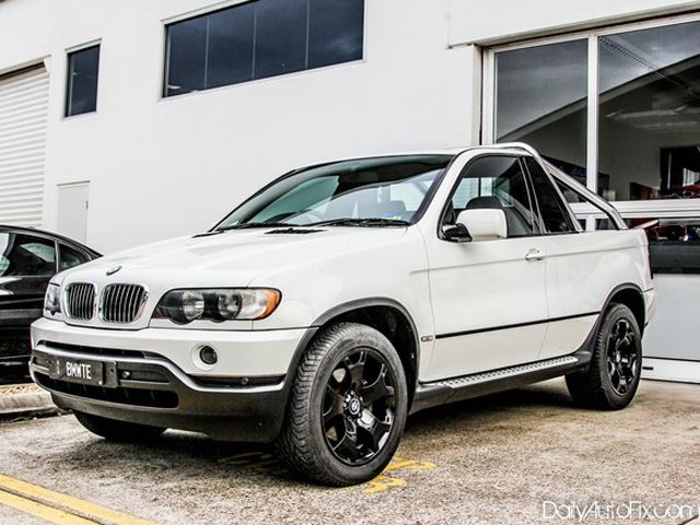 BMW X5 Converted Into Pickup Truck aka 'Bakkie'