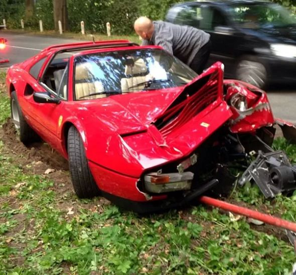 Ferrari 328 GTS Wrecked On Way Home From Antwerp Concours
