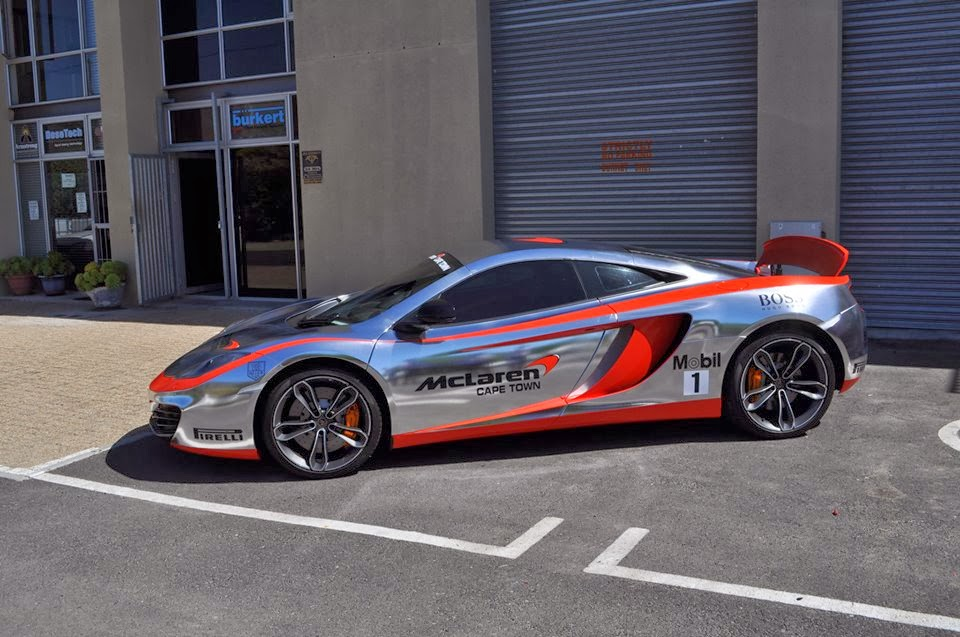 Mclaren 12c Gets F1 Inspired Chrome Wrap In South Africa