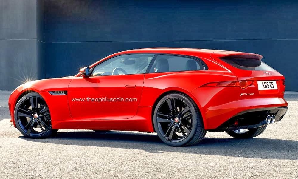 Rendering Jaguar F Type Shooting Brake