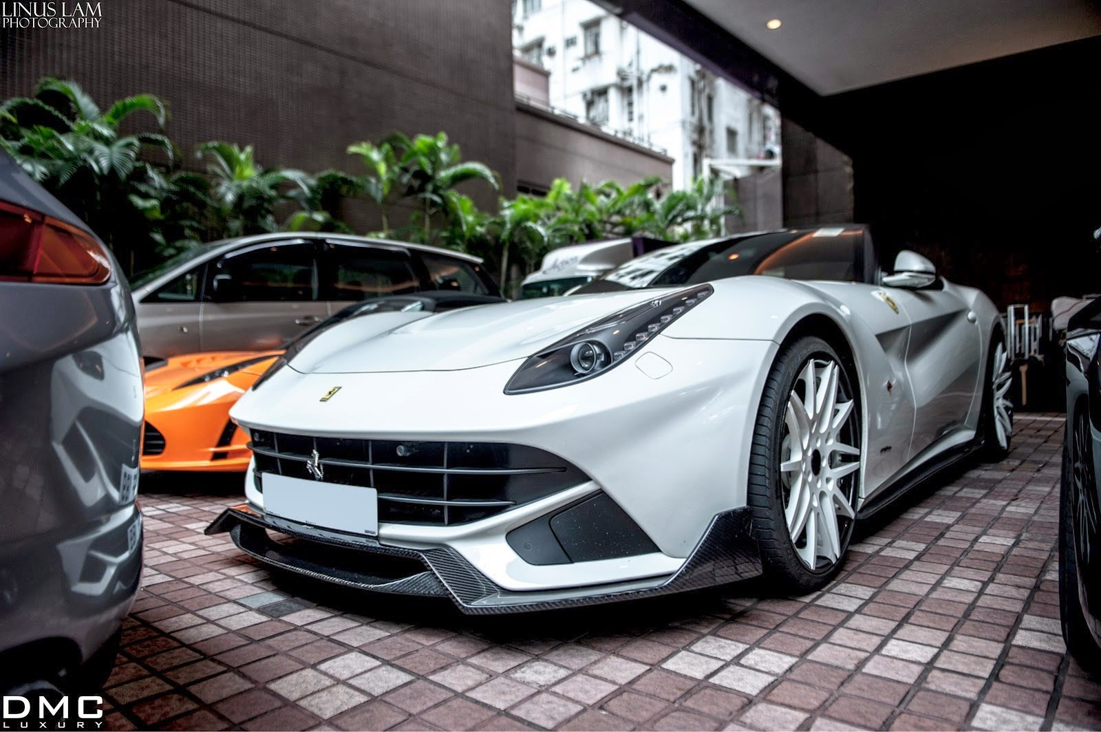 White Ferrari F12 Dmc Spia Spotted In Hong Kong