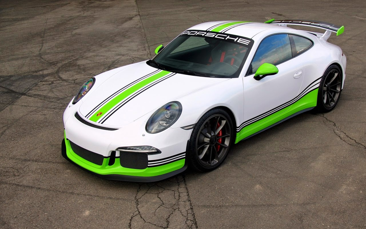 Porsche 911 Gt3 Gets Epic Lime Green Racing Livery