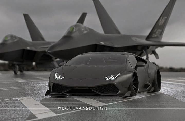Rendering Widebody Lamborghini Huracan Is Stealth Fighter