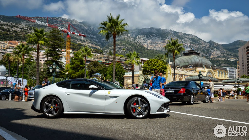 White Ferrari F12 With Black Roof Looks The Business
