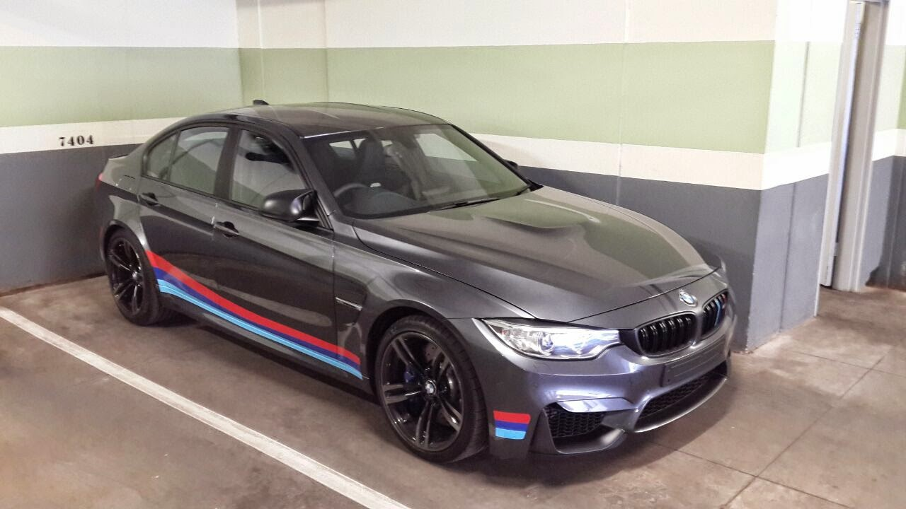 Mineral Grey Bmw M3 Gets Black Detailing And Motorsport Stripes