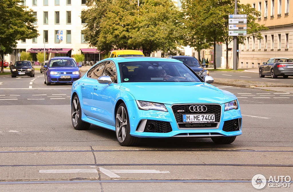 Audi Rs7 Sportback Spotted In Baby Blue