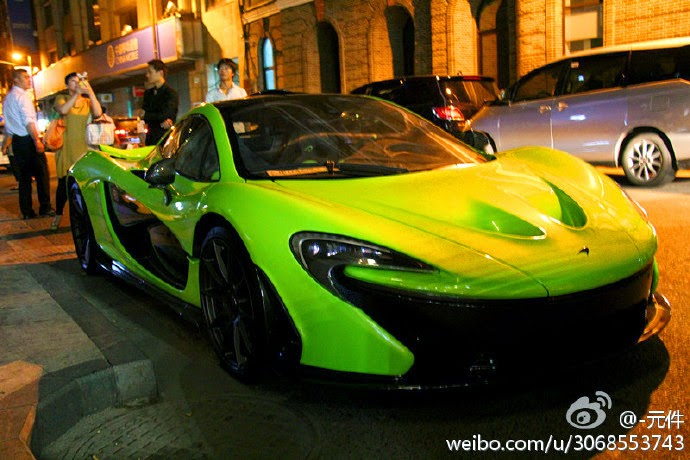 Lime Green Mclaren P1 On The Streets Of China