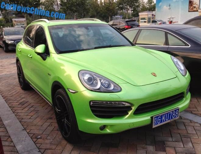 porsche cayenne hybrid s goes green in china