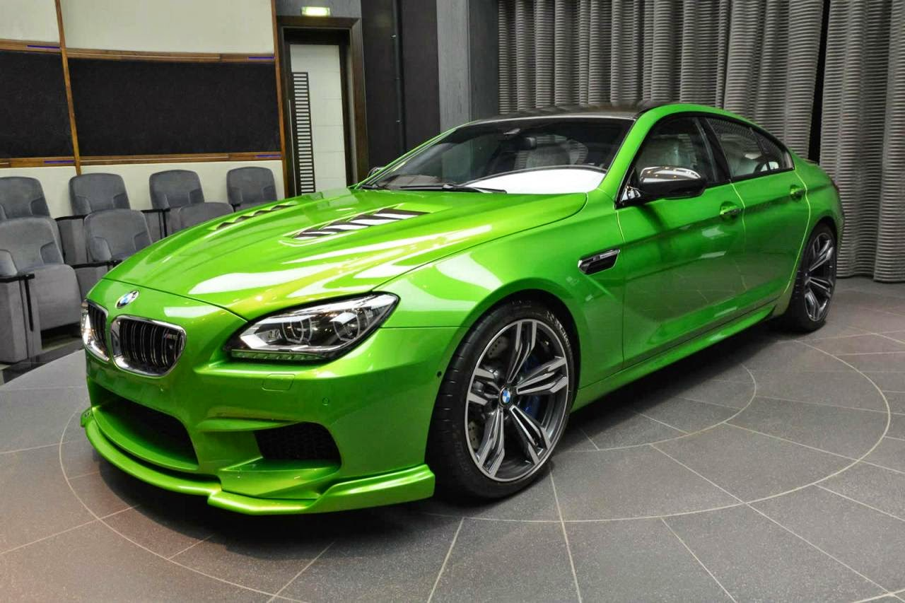 Modified Bmw M6 Gran Coupe With Java Green Paintjob