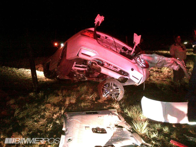 White Bmw M4 Crashes Badly In South Africa