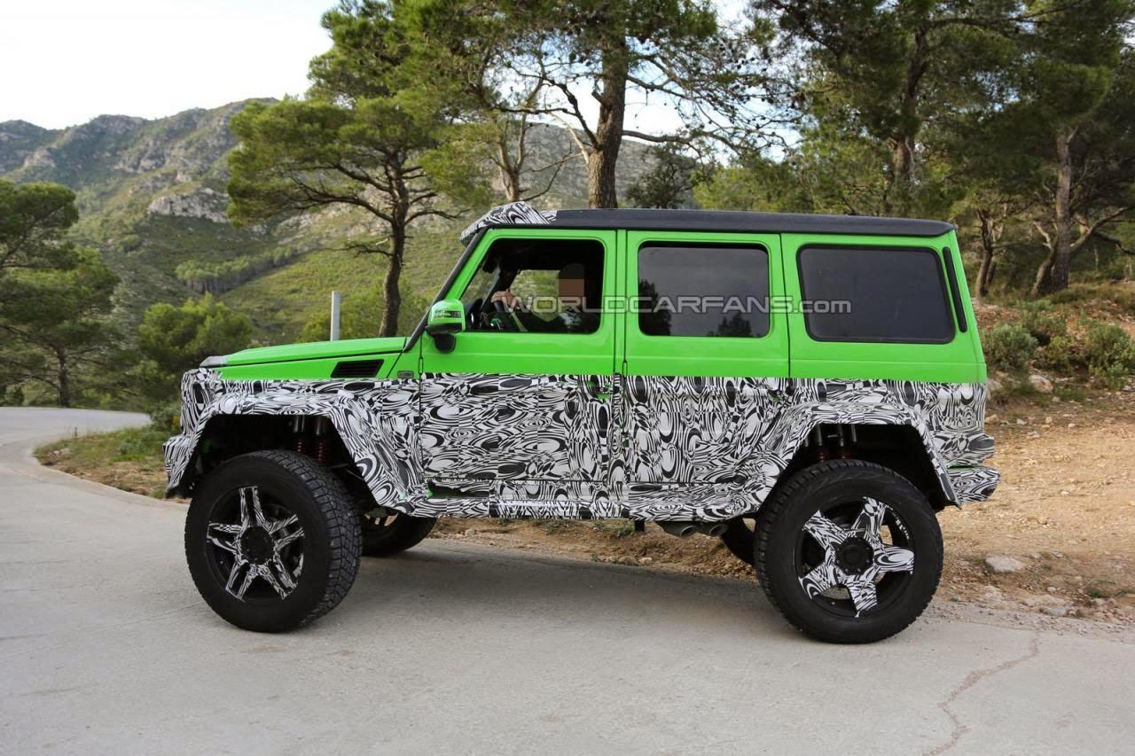 mercedes g63 amg 4x4 green monster spied testing. Black Bedroom Furniture Sets. Home Design Ideas
