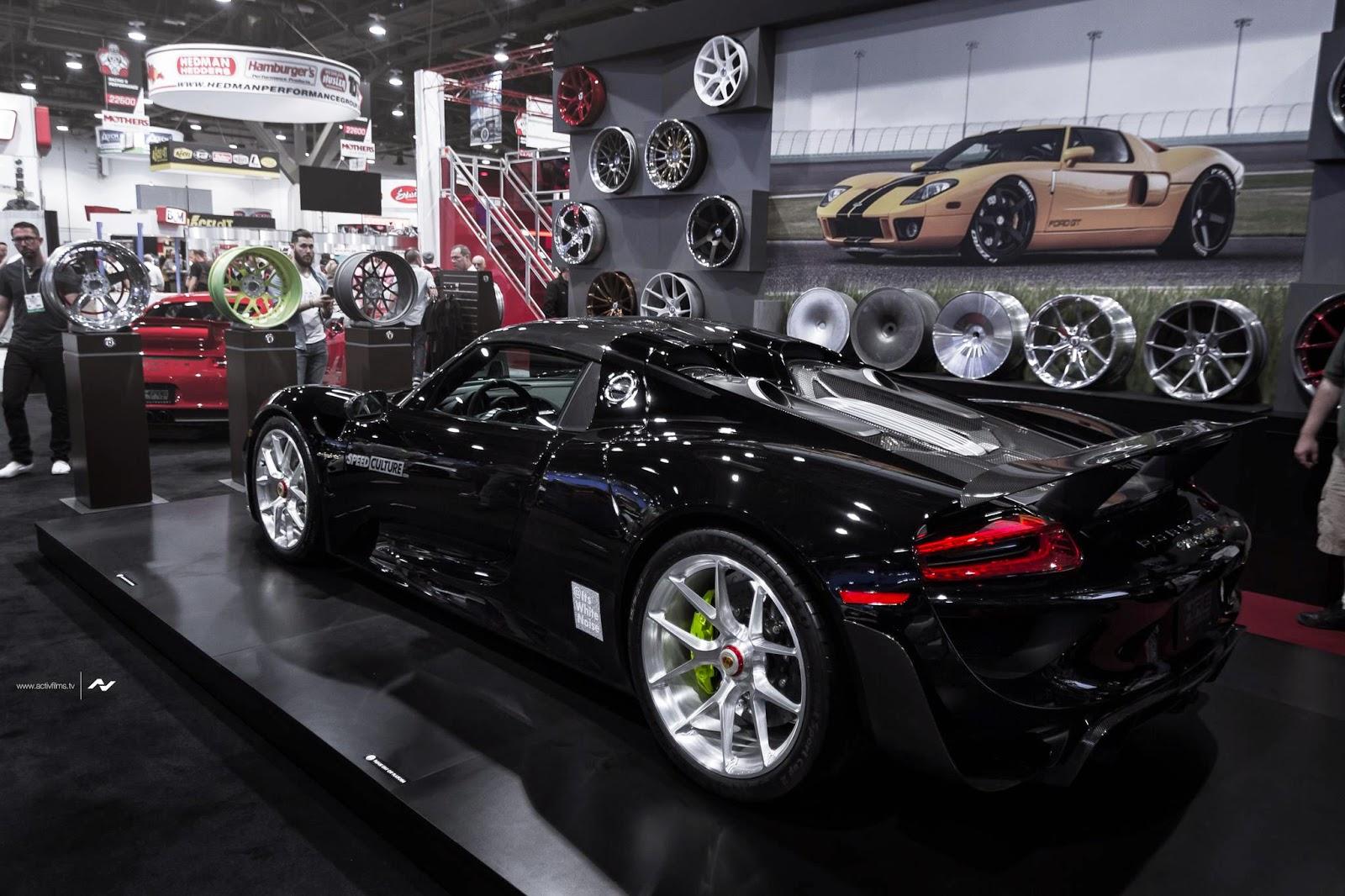 black porsche 918 spyder wears sexy hre wheels. Black Bedroom Furniture Sets. Home Design Ideas