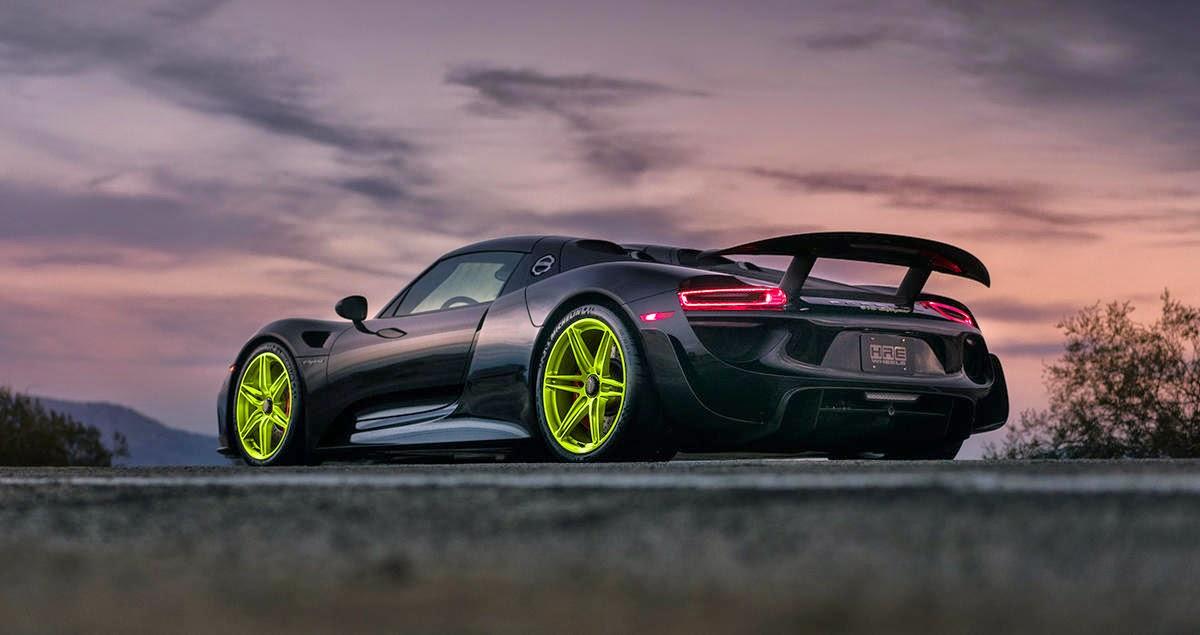 Porsche 918 Spyder For Sale >> Black Porsche 918 Spyder Rendered on HRE Wheels