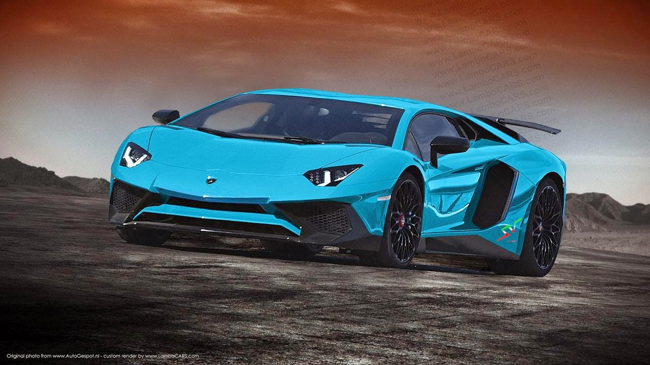 Lamborghini Aventador Sv Rendered In Some Hot Colours