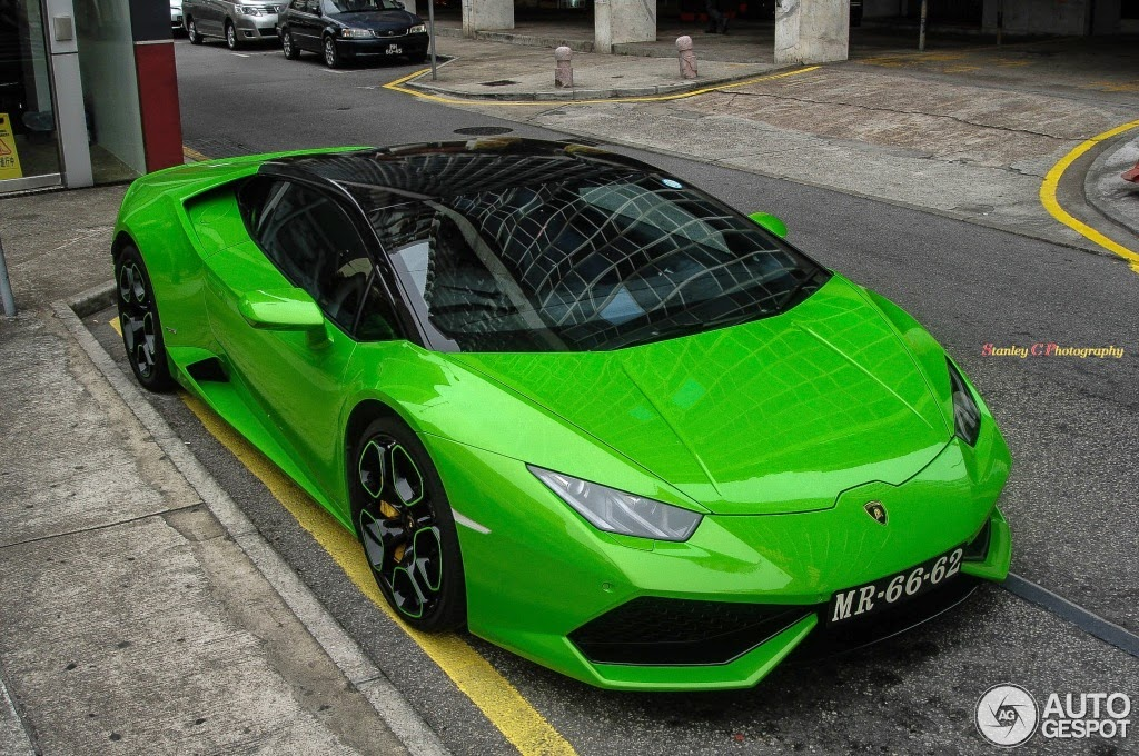 Two Tone Gloss Black And Verde Lamborghini Hurac 225 N Looks