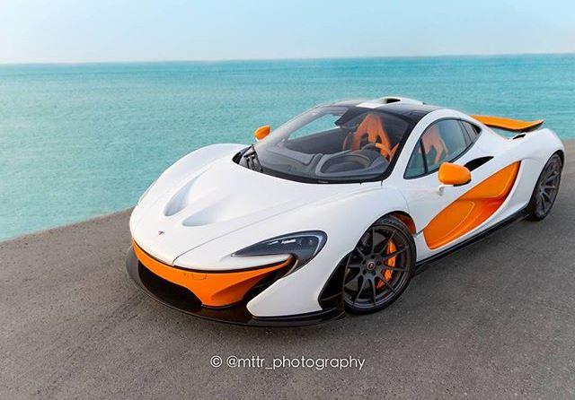 White And Orange Mso Mclaren P1 Looks Superb