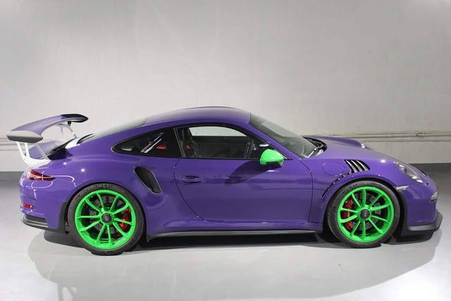 Gt3 For Sale >> Ultraviolet Porsche 991 GT3 RS Gets Electric Green Wheels