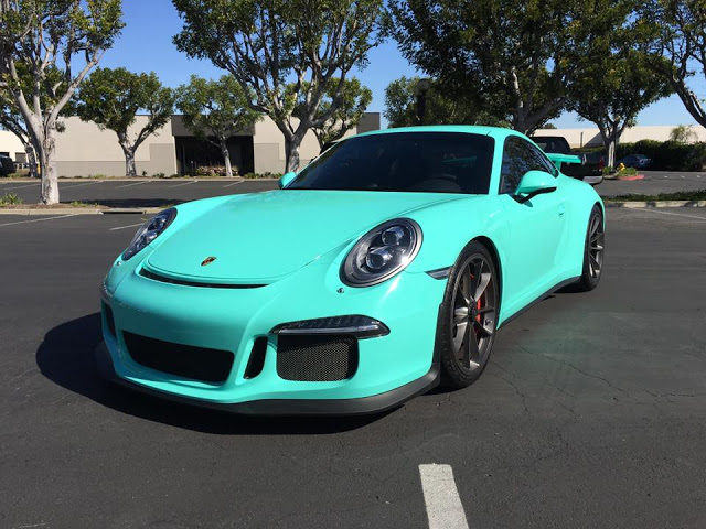Tiffany Blue Wrapped Porsche 911 Gt3 Is A Head Turner