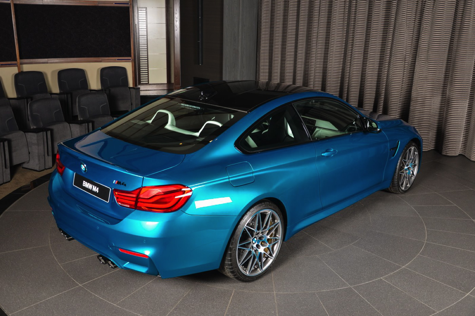 Individual Atlantis Blue Bmw M4 Competition Package Is A
