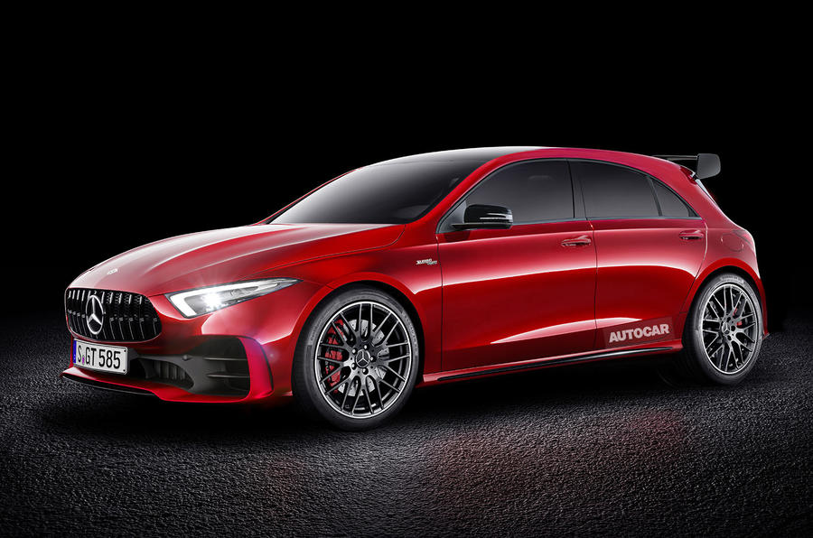 2019 mercedes amg a45 being called the predator by. Black Bedroom Furniture Sets. Home Design Ideas